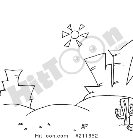 In The Desert clipart outline Shining Coloring a Of #211652