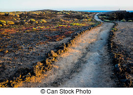 In The Desert clipart pathway Photo Volcanic Desert Pathway