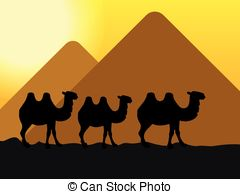 In The Desert clipart piramid Of Clipart camels Search Vector