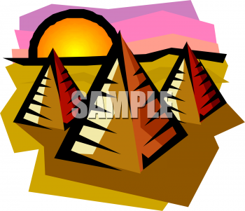 In The Desert clipart piramid  Picture of Egyptian Pyramids