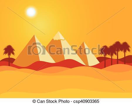 In The Desert clipart piramid Egyptian Vector Egyptian of Desert
