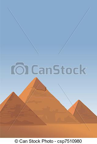 In The Desert clipart pyramid giza Vector of illustration Background Giza