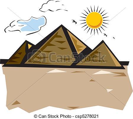In The Desert clipart pyramid giza Clipart Illustration Cairo Pyramids desert