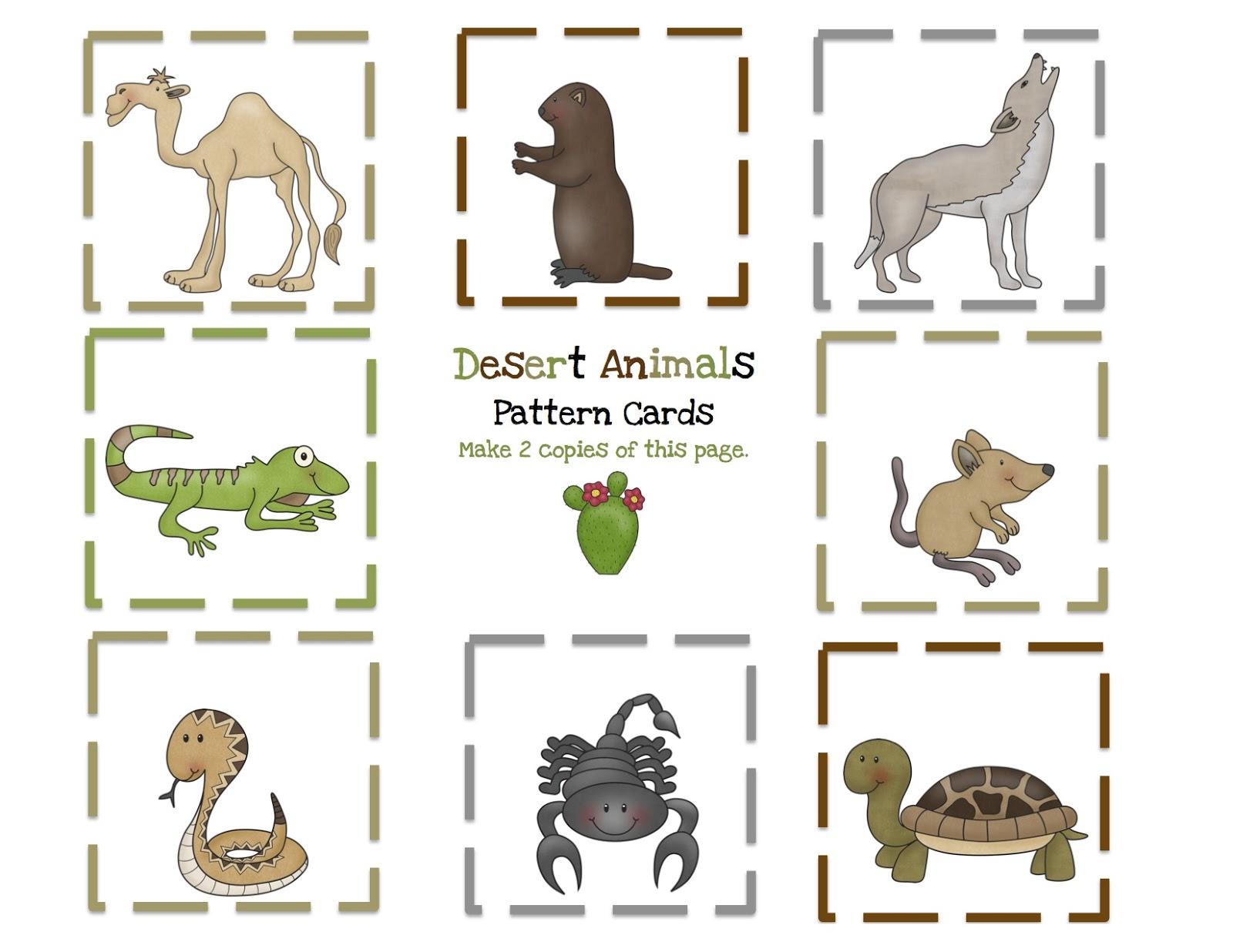 Wilderness clipart animal Preschool Preschool Animals Printables: Desert