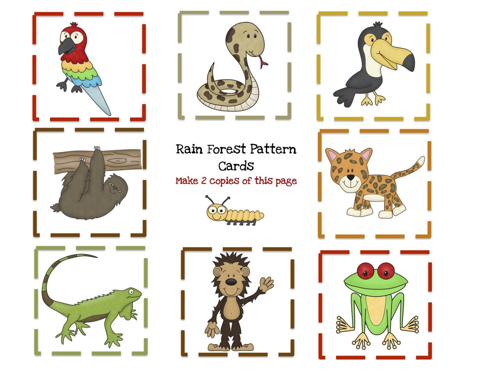 In The Desert clipart rainforest animal Printable pattern Pattern Free make