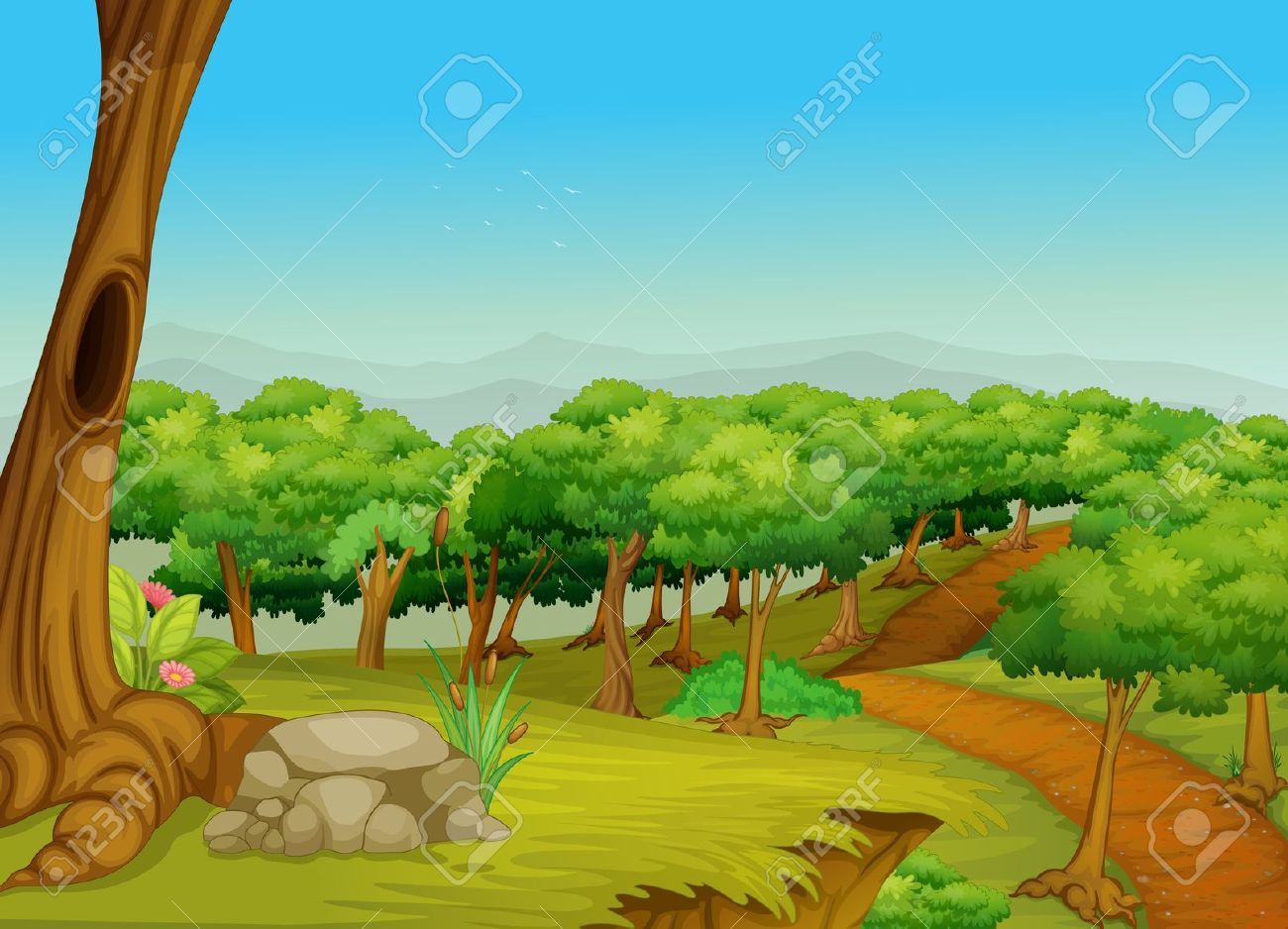 Rural clipart surroundings Collection Vector Jungle Stock 17