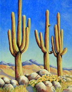 In The Desert clipart saguaro In canvas the cactus Design
