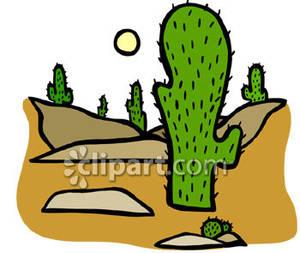 In The Desert clipart saguaro In Desert the Cacti Saguaro