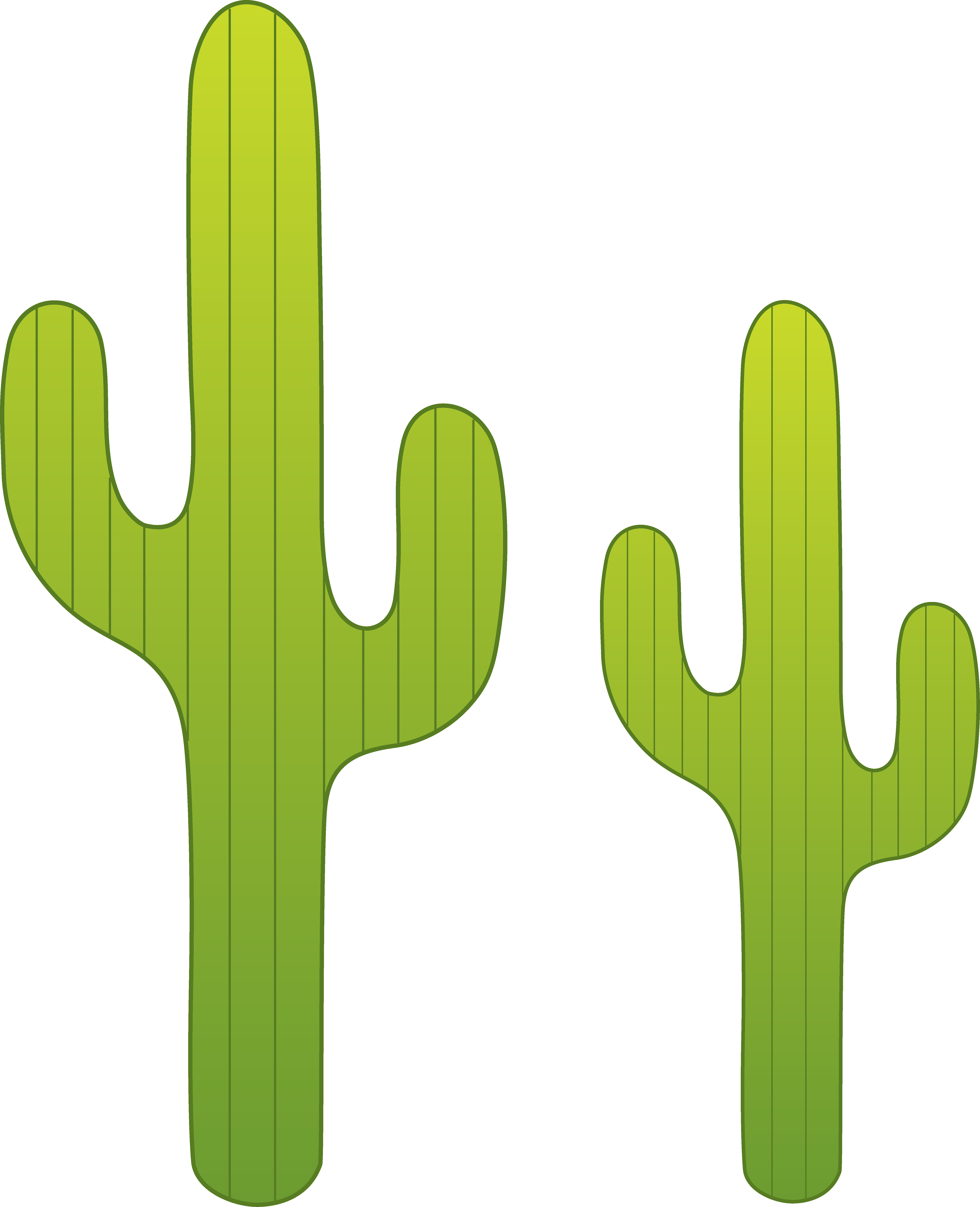In The Desert clipart saguaro Two Saguaro Cactuses Saguaro Free