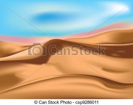 In The Desert clipart sand dune EPS from Sand  a