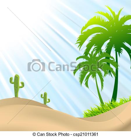 In The Desert clipart sand dune Desert illustration of Clip