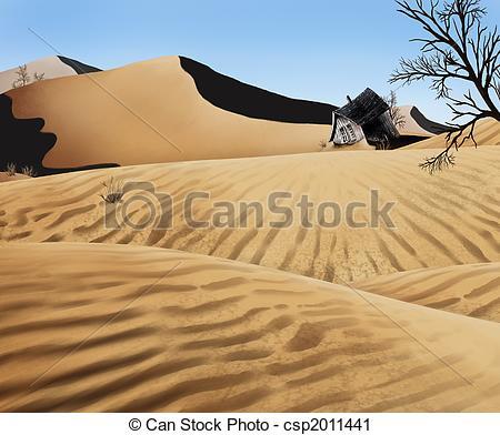 In The Desert clipart sand dune  csp2011441 an Sand warped