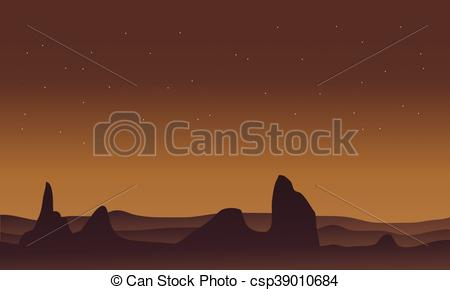 In The Desert clipart scenery Silhouette desert scenery and