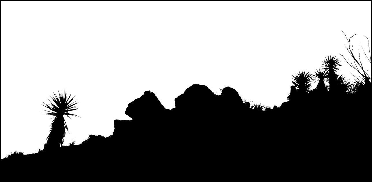 In The Desert clipart silhouette In – Silhouette Silhouette Joshua
