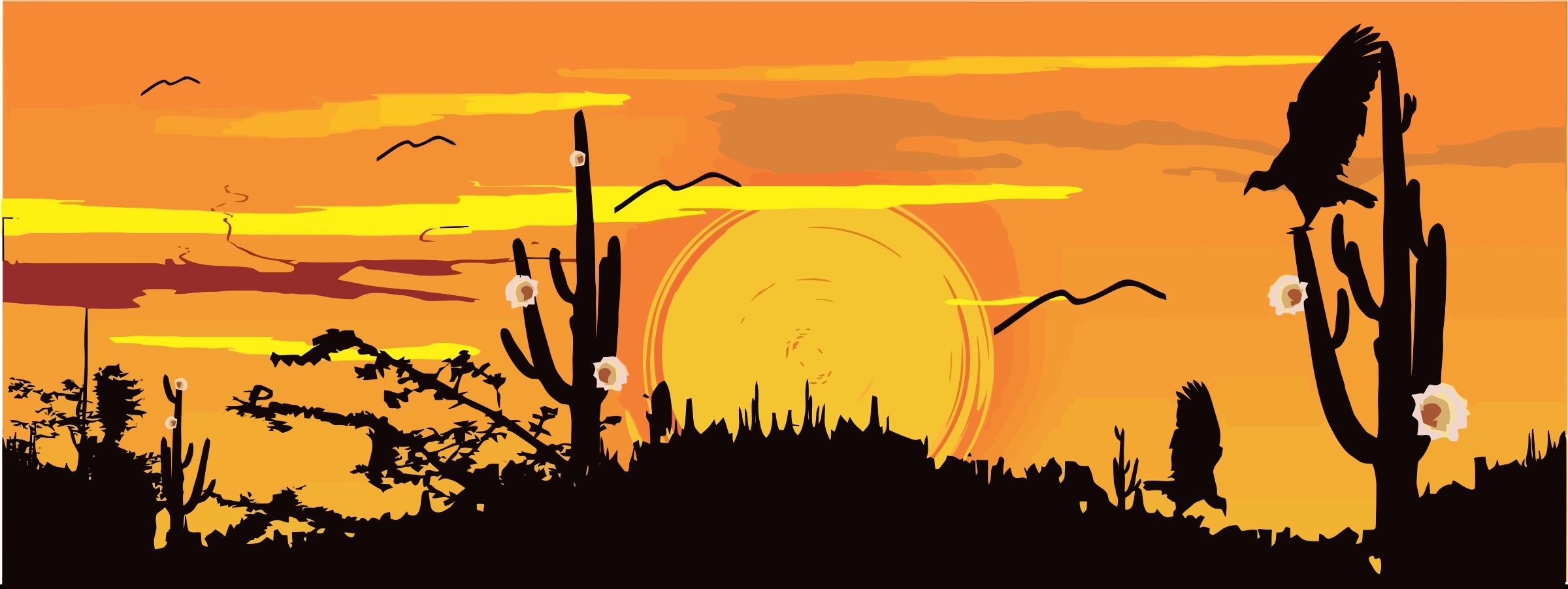 In The Desert clipart silhouette Silhouette Desert Clipart Desert Silhouette