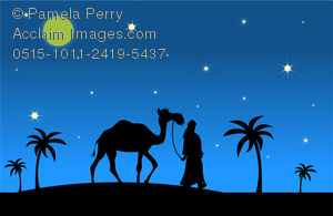 Camels clipart blue Image in in Art of