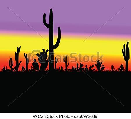 In The Desert clipart silhouette Desert Vectors Vector EPS silhouette