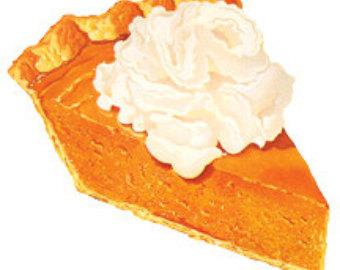 In The Desert clipart slice pie Illustration Image Pumpkin pie Vintage