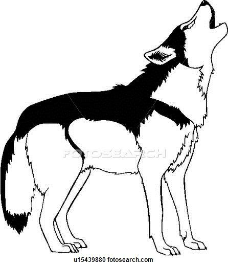 In The Desert clipart southwest And wolf Clipart howl wild