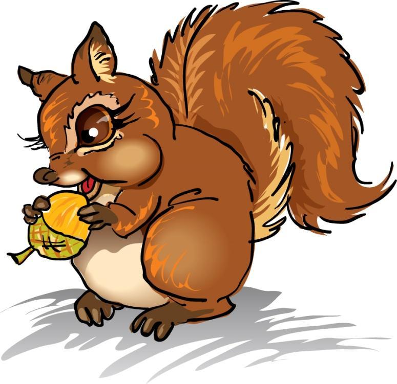 In The Desert clipart squirrel Art Art Panda  Clipart