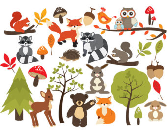 In The Desert clipart squirrel Forest cute Cactus clip hand