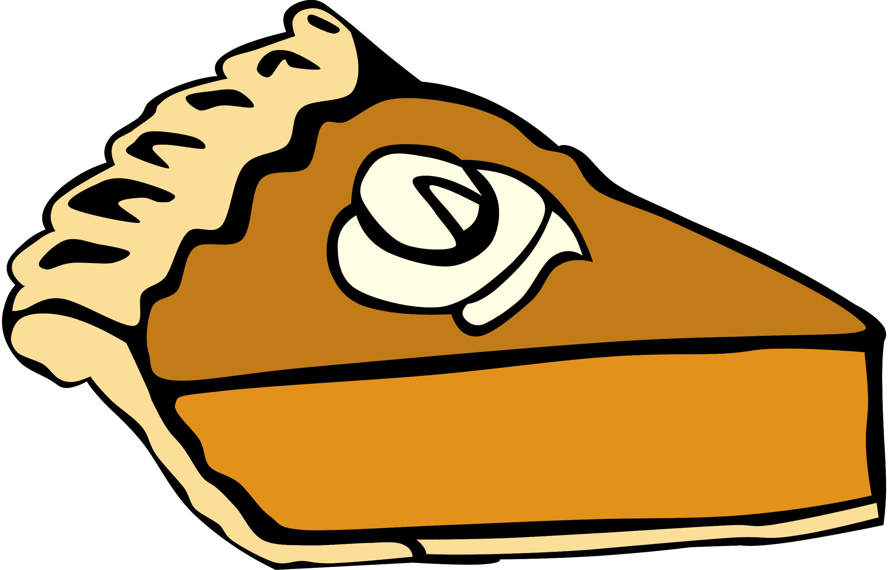 In The Desert clipart thanksgiving pie Panda Dessert Borders Art Free