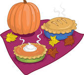 In The Desert clipart thanksgiving pie Illustrations cloud word pies Autumn