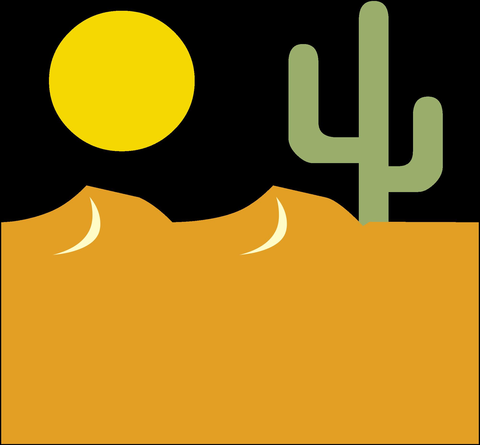 In The Desert clipart transparent File:Cactus Commons Desert svg in