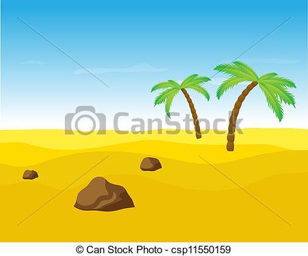 In The Desert clipart vector The in trees trees desert