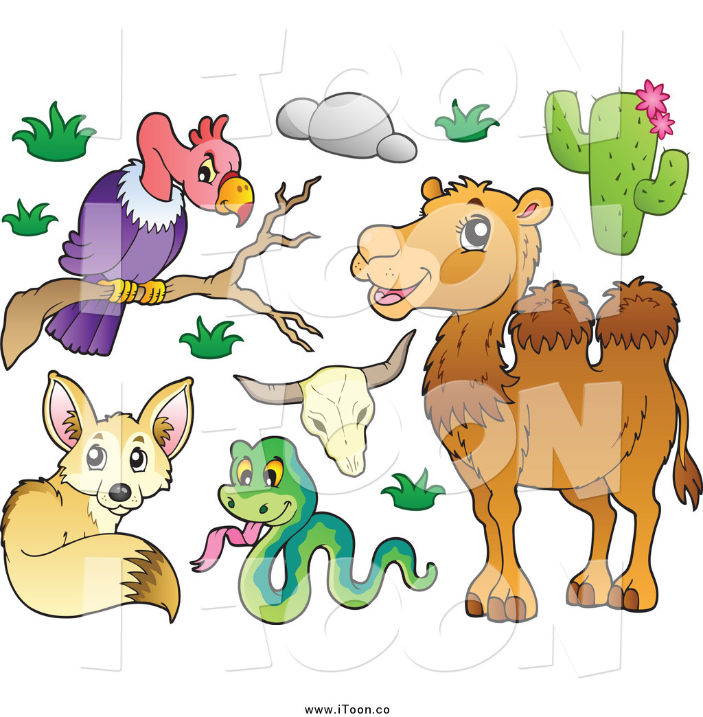 In The Desert clipart vulture Royalty Free of a Fox