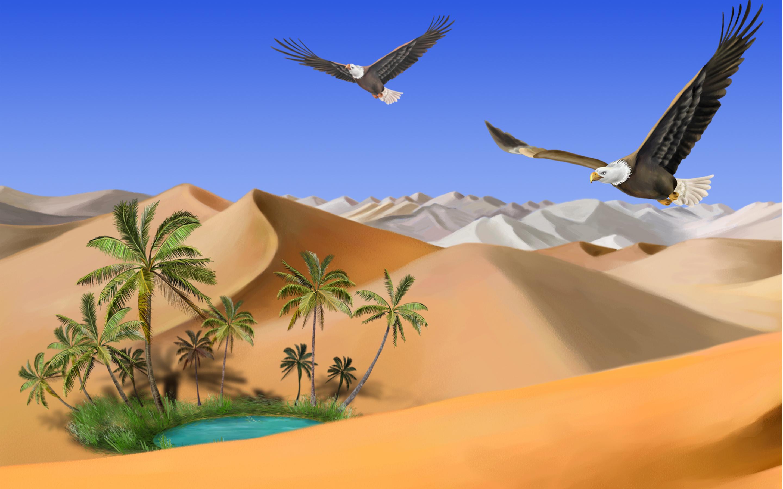 In The Desert clipart wallpaper Cps Eagles Oasis Okriim Clipart