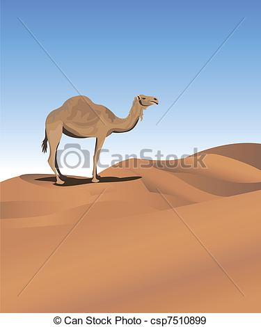 In The Desert clipart well EPS camel of A