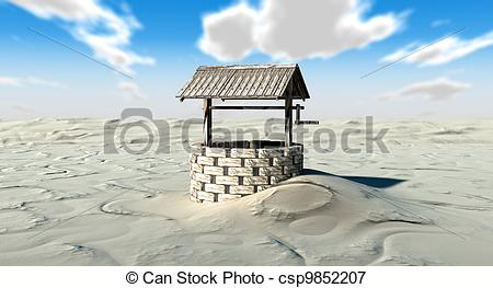 In The Desert clipart well A of Stock Illustrations