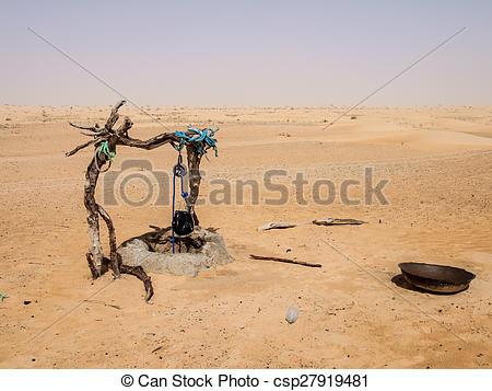 In The Desert clipart well Rope Sahara bucket bucket in