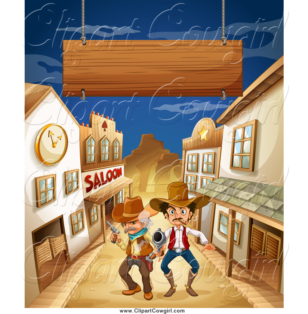 In The Desert clipart western background Western clipart Western photo#13 town