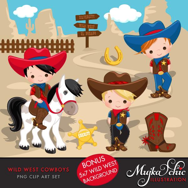 In The Desert clipart wild wild west Wild  Cute Red &