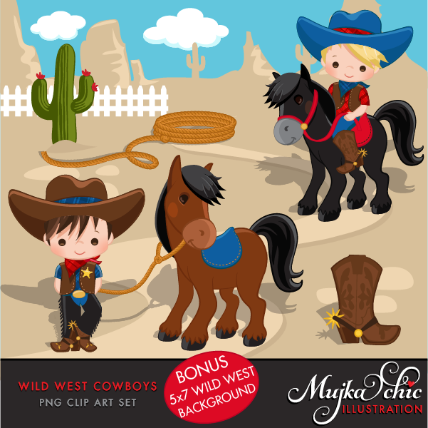In The Desert clipart wild wild west West Blue Red Cute Red