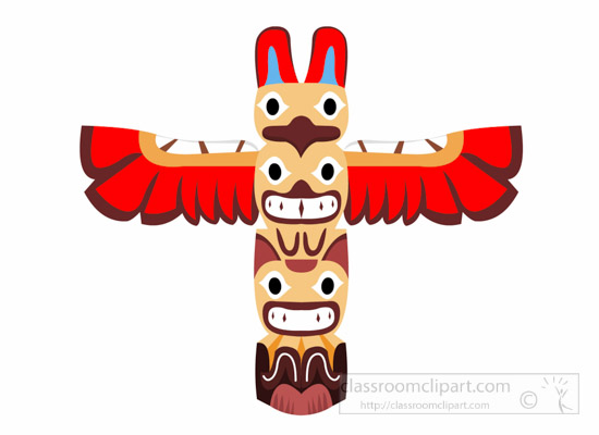 Totem Pole clipart polynesian  Indian Native Free Native