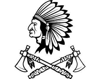 Indian clipart axe Chief Skull #4 Headdress Indian