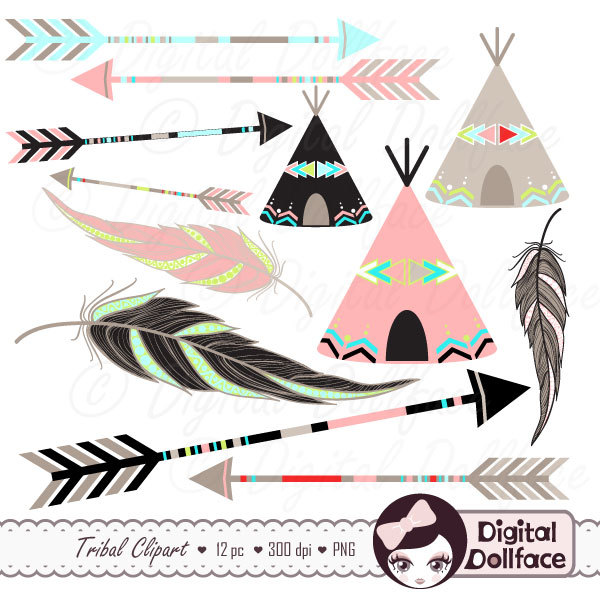 Native American clipart teepee tent  Native Art Clip Clipart