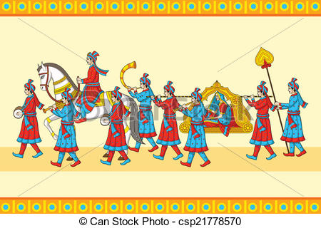 Ceremony clipart indian engagement Baraat ceremony vector wedding Illustration