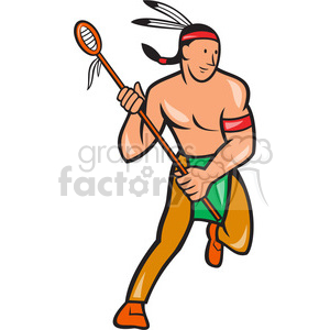 Indian clipart basketball player Lacrosse indian Royalty lacrosse clip