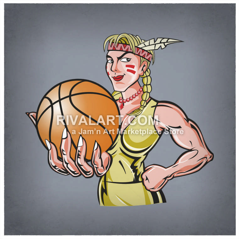 Indian clipart basketball player Holding Clipart Female Vector Holding