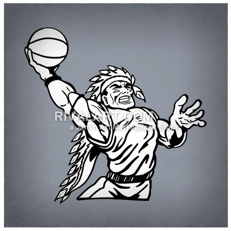 Wolverine clipart indian basketball An Slam Vector Dunking Slam