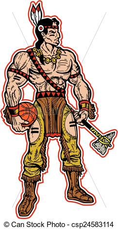 Indian clipart basketball player Clip american mascot native native