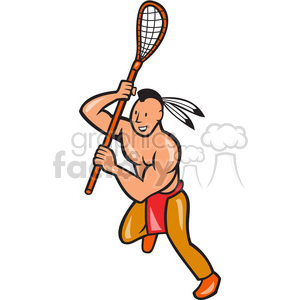 Indian clipart basketball player Royalty indian right lacrosse right