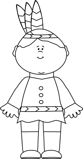 Indian clipart black and white Indian White Black Boy Boy