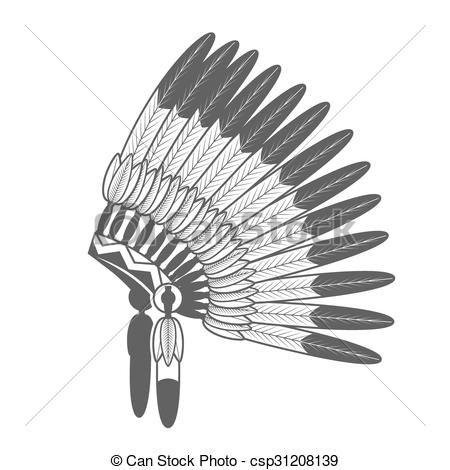 Indian clipart bonnet Native of Native Feathered American