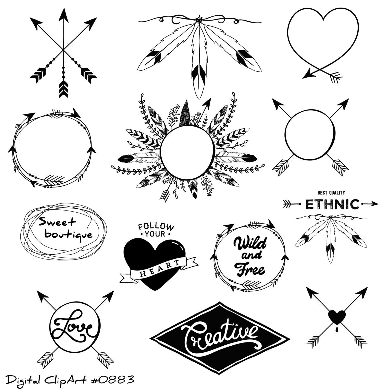 Tribal clipart line art Clip a Clipart clipart Tribal
