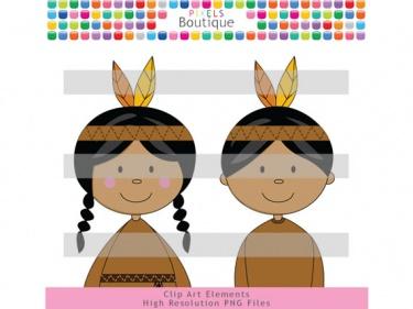 Indian clipart boutique Meylah Indians 088) Thanksgiving Pilgrims